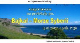 Bajkał - morze Syberii - prelekcja w Dąbrówce Wielkiej