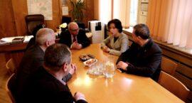 Spotkanie Prezydent Miasta z przedstawicielami strajkujących górników KWK Piekary