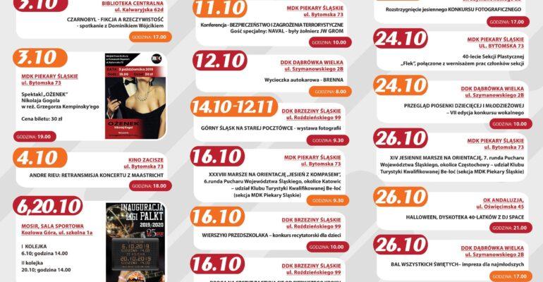 Plan październikowych wydarzeń kulturalnych