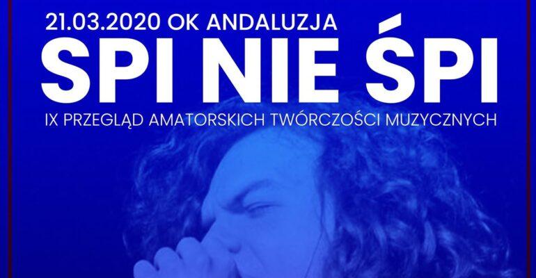 Czekamy na zgłoszenia do Przeglądu Amatorskich Twórczości Muzycznych SPI nie ŚPI 2020