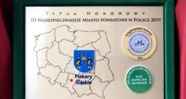 """Piekary Śląskie z tytułem """"Najbezpieczniejsze Miasto w Polsce 2019"""""""