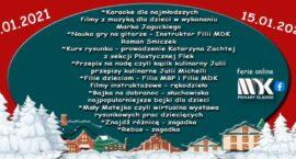 Miejski Dom Kultury ma propozycje na ferie zimowe
