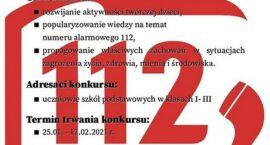 """DDK organizuje konkurs plastyczny """"112-uratuj życie"""""""