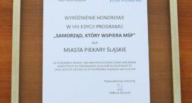 """Wyróżnienie honorowe w Programie """"Samorząd, który wspiera MŚP"""""""