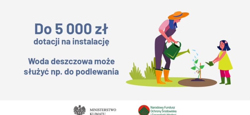 """Program """"Moja Woda"""" - dofinansowanie 5000 zł"""