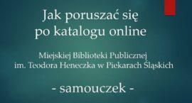 Bibliotekarze uczą, jak korzystać z katalogu online
