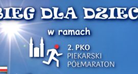 Bieg dla dzieci w ramach 2. PKO Piekarskiego Półmaratonu