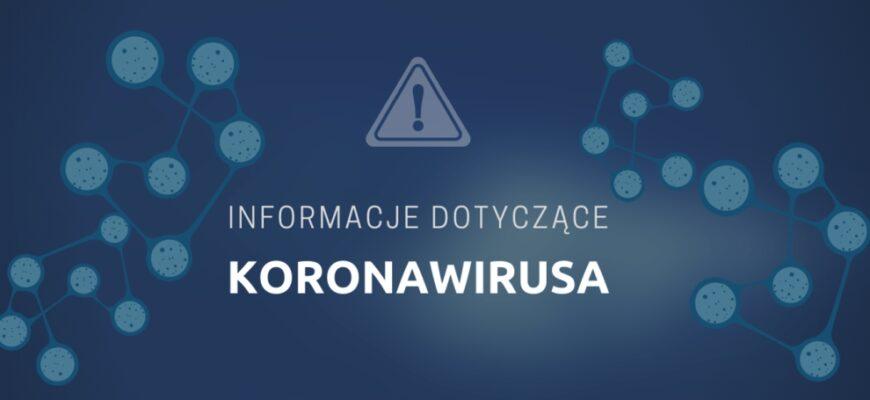 Zasady zachowania w związku z koronawirusem [AKTUALIZACJA 30.08.2021]