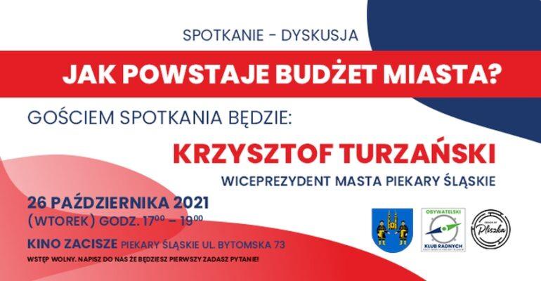 O budżecie miasta z wiceprezydentem Krzysztofem Turzańskim